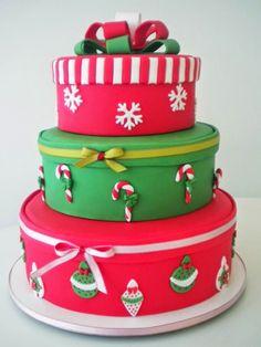 Bolo de natal, lindos modelos criativos para deixar sua mesa mais bonita. Modelos de bolo de natal Dicas de bolos para natal Encontrei na...