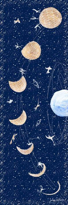 Arts Graphiques   Julie Zeitline   Le cycle de la lune   Tirage d'art en série limitée sur L'oeil ouvert Street Art, Julie, Art Graphique, Arts, Artwork, Moon, Celestial, Contemporary Photography, Old Photography