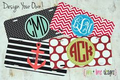 Personalized License Plate Monogrammed Car by PinkandLimeDesigns