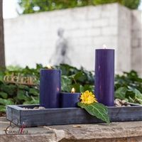 Navy Blue Pillar Candles - Navy is a classic color to use in decorating your space.  Think Pillar Candles for 30-90 hours of burn time and mix and match with seasonal items to achieve a perfect look for your guests.  I love adding that fresh floral effect with a vibrant pop of color to show off the opposing Navy color! Navy Color, Color Pop, Navy Blue, Blue Pillar Candles, Vibrant, Fresh, Decorating, Space, Classic