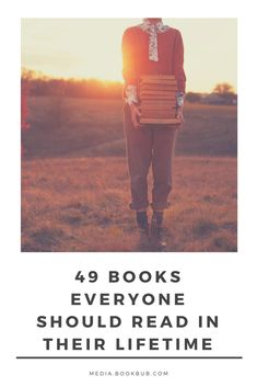49 books everyone should read, including books for women and men.