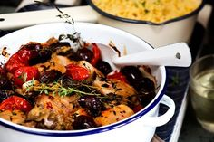 Baked chicken with tomatoes aubergine and olives recipe, Viva – This Italianinspired dish makes a fabulous weekday meal you can whip it up in no time at all - Eat Well (formerly Bite) Chicken Eggplant, Healthy Snacks, Healthy Recipes, Savoury Recipes, Olive Recipes, Baked Chicken Recipes, Fruit And Veg, Tray Bakes