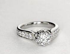 Colin Cowie Signature Pavé Diamond Engagement Ring in Platinum (2/5 ct. tw.)