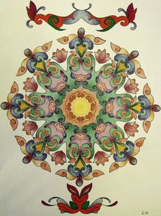 mandala tattoo | Tumblr... Want, but in different colors...