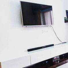 Beautiful Minimal TV Console. www.neotecture.in  #Minimal #interiors #interiordesign #minimalist #minimalism #homedecor #minimalove