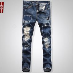 69.99$  Buy here - http://alil3s.worldwells.pw/go.php?t=32714989518 - New Arrival Fashion High Quality Brand Men Jeans Beggars patch holes Jeans Casual Straight Washed Pants Jeans plus Size D1484