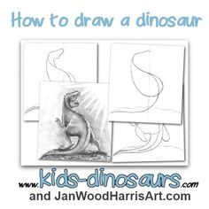 How to draw a dinosaur step by step for kdis