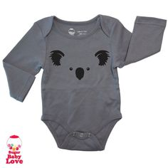 KOALA  baby bodysuit  choose any onesie color by BabyLoveSugar
