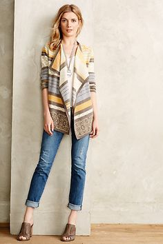 Polipattern Cardigan...love everything but the look on her face