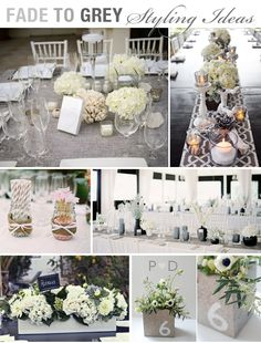 Browse the portfolio of a Stylish Wedding Planner & Stylist: creative designs and unique styling. Inspiration for the modern wedding couple. Grey Wedding Decor, Wedding Themes, Wedding Designs, Wedding Colors, Wedding Events, Wedding Styles, Our Wedding, Wedding Flowers, Dream Wedding