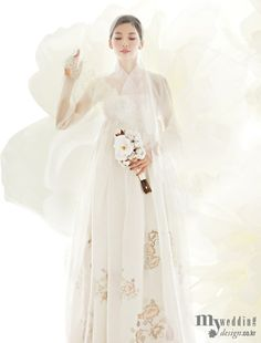 한복 Hanbok / Traditional Korean dress ... It`s such a beautiful option as a wedding dress ... so elegant and simple