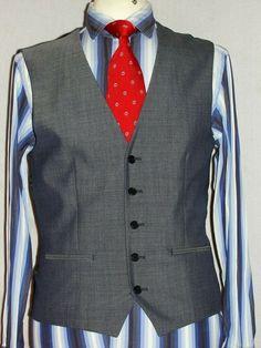 f59d5829ca MEN'S 3 PIECE NEXT HANDSTICHED 3 POCKET TAILORED DESIGNER SUIT UK  40RW34XL31 #fashion #clothing
