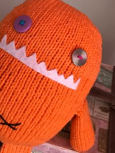 Ready To Ship Hand Knitted Monster Valentine Present by CatDKnits