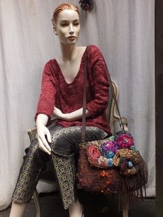 ZINNIES AND ROSES. felted crossbody  bag cluth by JARMOLOWSKA