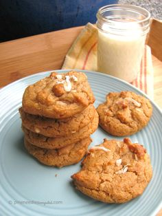 Coconut peanut butter cookies soft and delcious