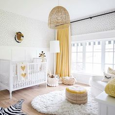 Leo's nursery- Jillian Harris yellow and white gender neutral nursery Baby Bedroom, Baby Boy Rooms, Baby Room Decor, Baby Boy Nurseries, Nursery Decor, Safari Nursery, Bedroom Yellow, Nursery Curtains, Nursery Art