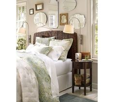 love the headboard and the mirrors