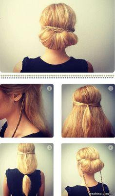 Причёски с длинным волосом