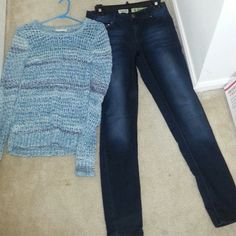 Bundled Top and Jeans Knitted Top. size -small  Jea. size - 9 fits like 0-4 Other