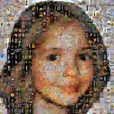 Mosaic portraits of friends, made of small photos of masterpieces of classic painters. Artist #Maximksuta