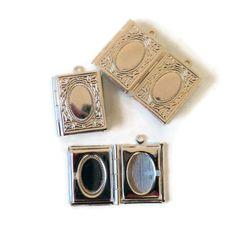 Book Locket Charm, Silver Coloured £0.20