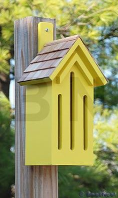 Butterfly House - not sure how well these work, but would be good visual interest #birdhouseideas