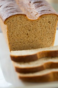 Whole Wheat Sandwich Bread | browneyedbaker.com #recipe #baking