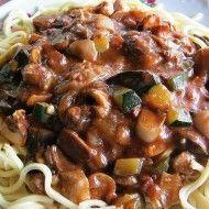 Fotografie receptu: Mleté maso na zelenině z wok pánve No Salt Recipes, Cooking Recipes, Good Mood, Main Meals, Recipies, Spaghetti, Stuffed Mushrooms, Food And Drink, Beef