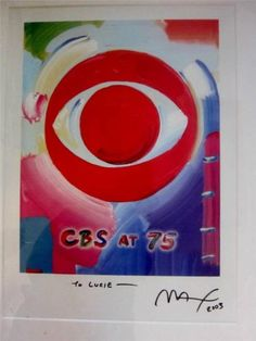 #ILoveLucy, #CBS, #PeterMax, #LucieArnaz all together in one fabulous limited edition 2003 signed poster celebrating 75th anniversary of CBS television. www.Connectibles.net