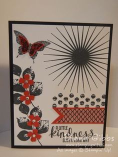 Diana Gibbs: Stamping with Di: Fall Fest Kinda Eclectic full - 9/7/14 (Kinda Eclectic; punches: Bitty Butterfly, Itty Bitty Accents (flowers)