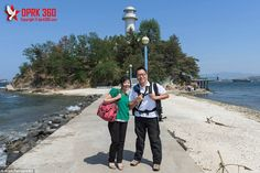 Film-maker Aram Pan (pictured with his translator, Miss Kim) takes the viewer on a 360 degree tour to previously off limit areas of North Korea
