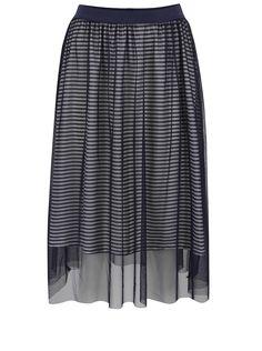 Tmavomodrá tylová sukňa s pruhovanou podšívkou ONLY Mesh Mesh, Skirts, Fashion, Moda, Fashion Styles, Skirt, Fashion Illustrations, Gowns