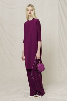 // The Row Resort 2013    Being skinny and rich means you can wear a shapeless purple sack and people will call it fashion.