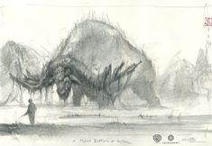 Browse a collection of 50 original sketches by Stephane Levallois, Max Kostenko, Nadia Mogilev made for Kong Skull Island. A team of scientists explore an Moving Picture Company, King Kong Skull Island, Islands In The Pacific, Creature Drawings, Art Sites, Matte Painting, Cg Art, Environmental Art, Creature Design