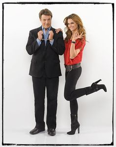 Castle Limited Edition Print - Nathan Fillion and Stana Katic