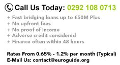 EuroGuide offers commercial bridging loans for uk property developers and investors.
