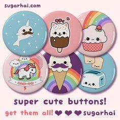 Super cute pin back buttons!