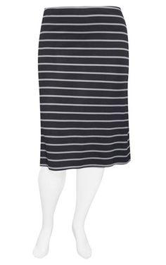 Weyre - dove stripe midi skirt TOWANDA womenswear - plus size designer fashion boutique women's clothes shop.