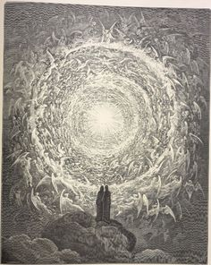 The Celestial Rose, from La Divina Commedia by Dante Alighieri, illustrated by Gustave Doré. It's incredible how inseparable Doré's etchings are from the book itself, despite being created centuries apart.