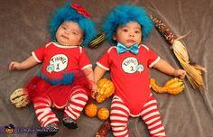 Thing 1 & Thing 2 Twins - Halloween Costume Contest via Matching Halloween Costumes, Twin Halloween, Baby Girl Halloween Costumes, Halloween Costume Contest, Halloween Ideas, Costume Ideas, Costume Zombie, Halloween Stuff, Halloween Customs