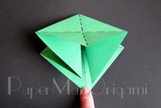 Origami Christmas Tree Tutorial | Origami Christmas Tree, Christmas Ornaments, Wish You Luck, Snowflakes, Projects To Try, Fun, Trees, Printables, Paper