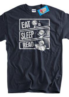 Eat Sleep Read T-Shirt Reading Books Literacy School T-shirt Librarian Teacher  Screen Printed T-Shirt Tee Shirt T Shirt Mens Ladies Womens on Etsy, $14.99