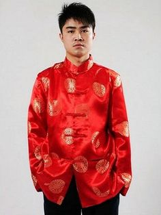 2018 Traditional Chinese Clothing For Men Top Tang Suit New Year Gift Party - intl Chinese New Year Outfit, Chinese New Year Gifts, Chinese Man, Chinese Style, Chinese Clothing For Men, Spring Tops, Chinese Culture, Traditional Chinese, Get Dressed