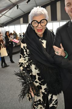 The fabulous Iris Apfel. My style icon!