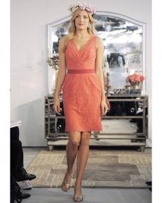Short Orange Bridesmaid Dress