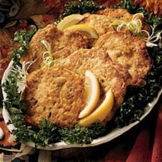 Salmon Cakes - 11 carbs in 2 patties (1 serving) as written. Will sub parmesan for flour and almond meal for cornmeal.