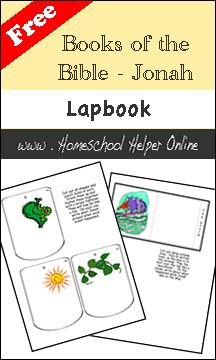 Homeschool Helper Online's Bible:  Book of Jonah Lapbook
