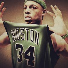 Celtics - Paul Pierce = a Celtic forever.