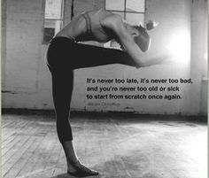 #FridayFitspiration: It's NEVER too late | Fitbie.com