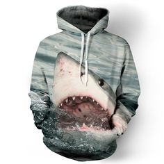 Shark Hoodie. SHARK WEEK IS COMING.